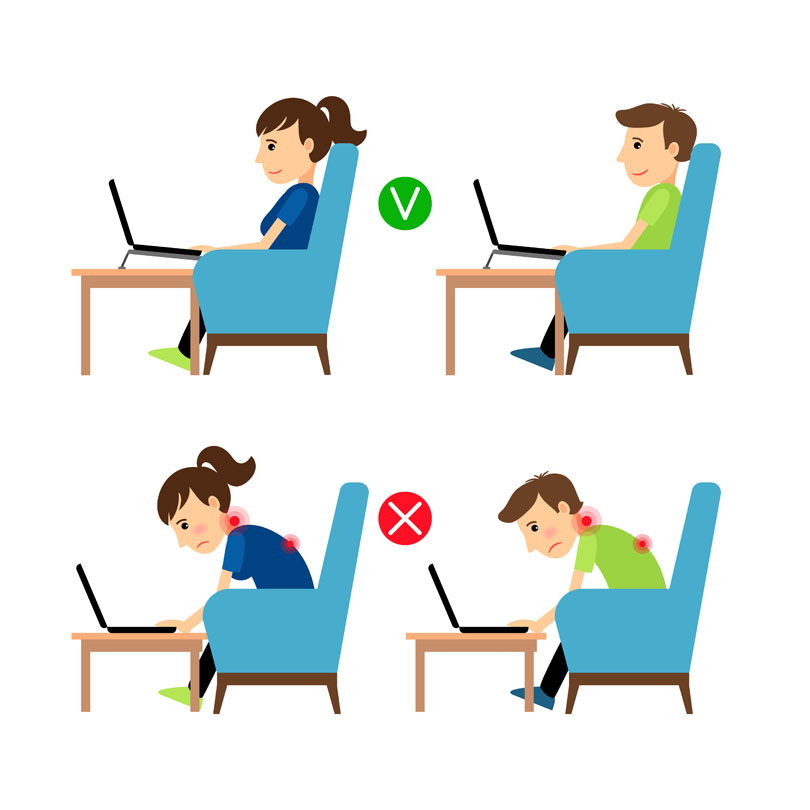Proper Posture While Standing, Sitting, and Lying Down